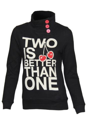 Outfitters Nation Damen Sweatshirt Elizabeth F SweatStehkragen Design Langarm
