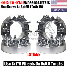 4 Wheel Adapters 8x65 To 8x170 For 1987 1998 Ford F 250 F 350 With 916 Studs Fits Ford