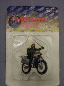 Rare-Vintage-1995-Saban-Masked-Rider-Candles-Kamen-Rider-Black-RX-Birthday-Cake