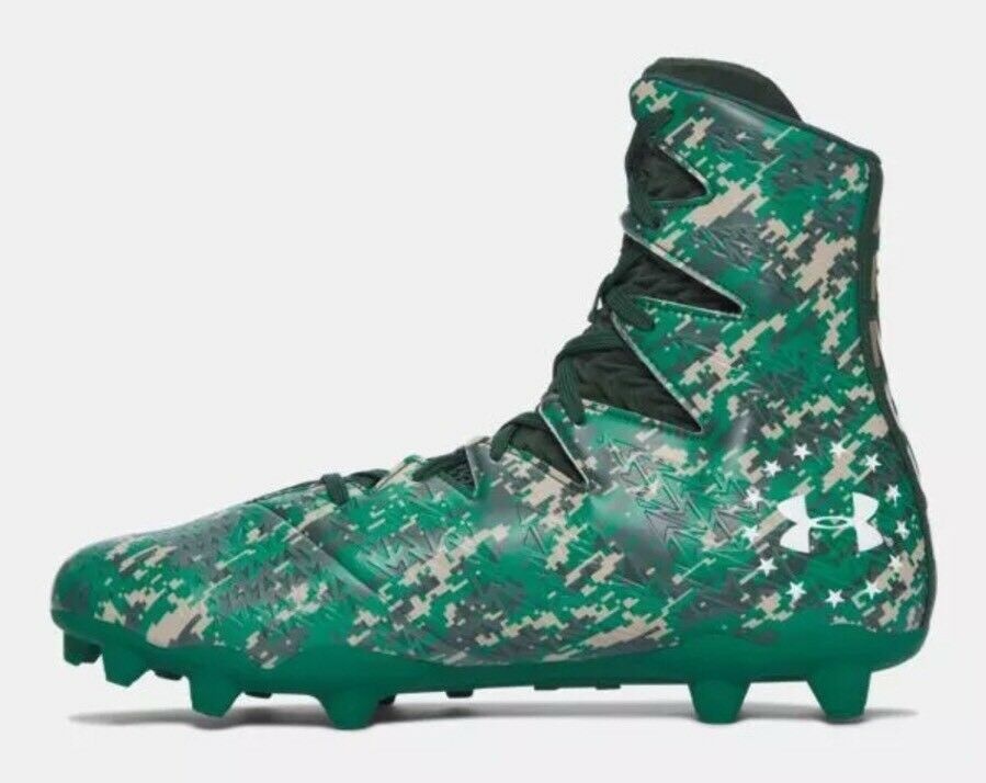 140 Under Armour Highlight Highlight Highlight MC LE Uomo's Sz 10 Football Cleats Camo verde 1289771 8448cd