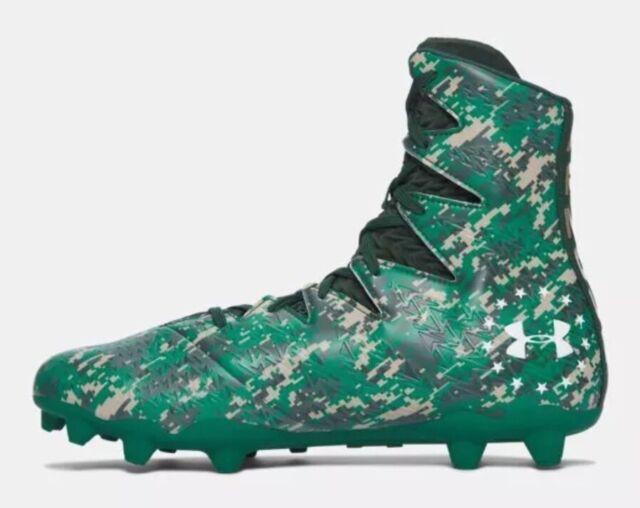 b8cb954df12  140 Under Armour Highlight MC LE Men s Sz 10 Football Cleats Camo Green  1289771