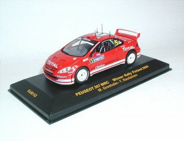 PEUGEOT 307 WRC no. 5 GRONHOLM RAUTIAINEN WINNER RALLY FINLAND 2004, IXO, 1 43
