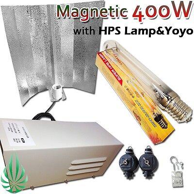 400W Magnetic Ballast Wing Reflector & HPS Lamp & YoYo Hydroponic Lighting Kit