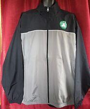 NWT Boston Celtics Black Gray Full Zip Wind Breaker Lightweight Track Jacket LG