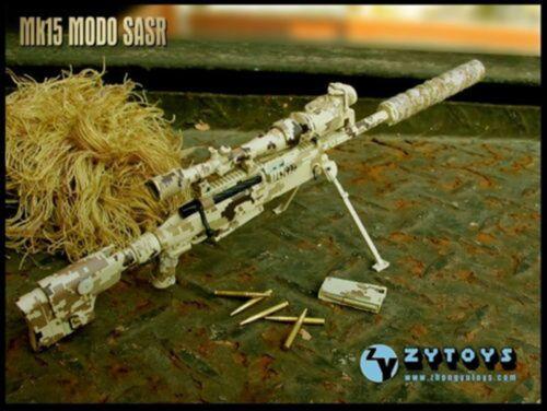 1:6 ZY Toys Desert Camo ZY-8036C LRSW TAC-50 Sniper Rifle Model F 12/'/' Figure