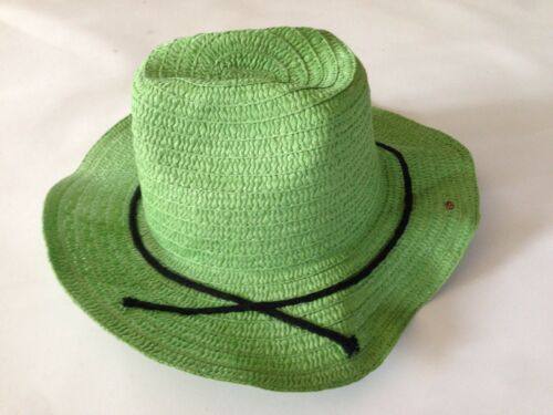 Women's Panama Cowboy Straw Hat Green