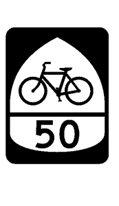 US Bicycle Route 50 Sticker R3177 Highway Sign