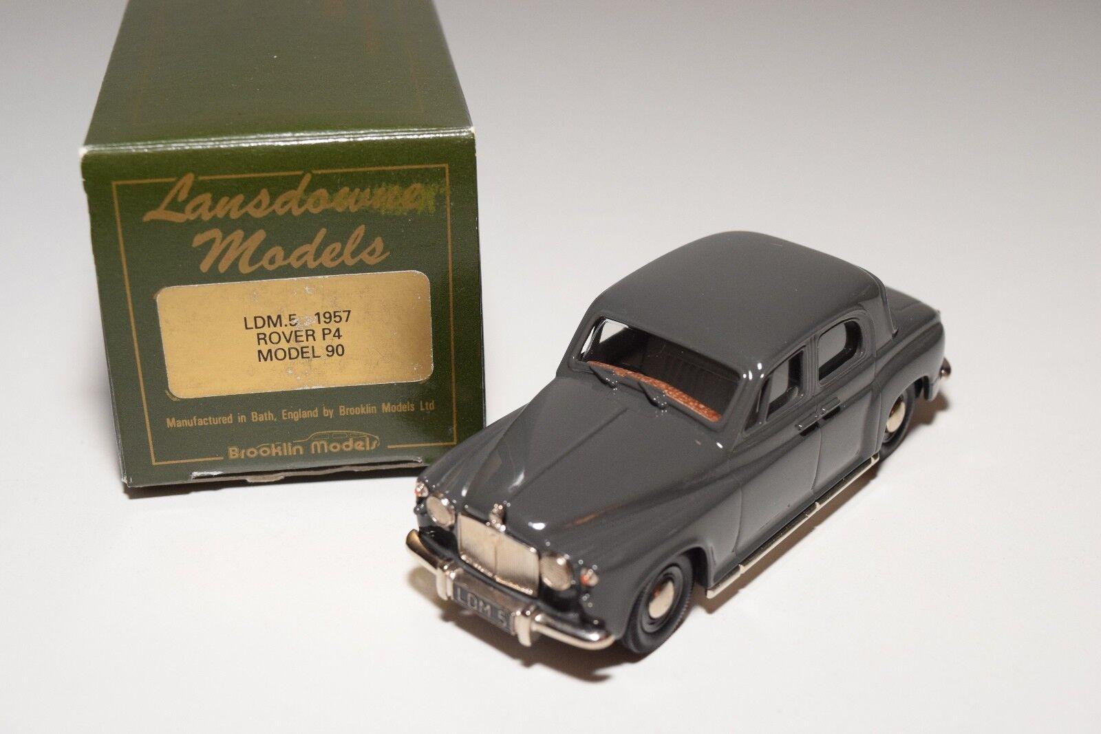 @ LANSDOWNE MODELS LDM 5 1957 ROVER P4 MODEL 90 grigio MINT BOXED