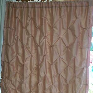 4 Nicole Miller Textured Silky Blush Room Darkening Curtain Panels 50 W X 84 L Ebay