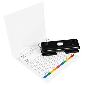 White A4 Paperwork Storage Organiser File 4 Hole Punch Ring Binder