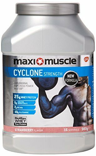 Maximuscle Cyclone Whey Whey Cyclone Protein and Creatine Powder, Strawberry, 980 g 76b28f
