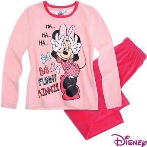 DISNEY-ensemble-pyjama-velours-MINNIE-4-6-8-ou-9-ans-rose-NEUF