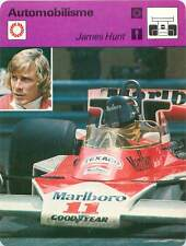 FICHE CARD James Hunt Pilote Formule 1 McLaren GP Monaco Japon Japan Suède 1970s