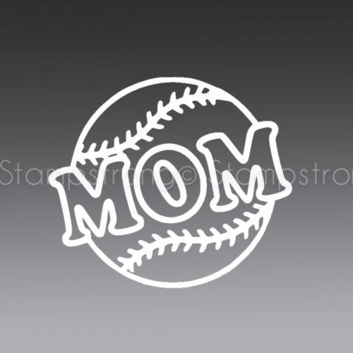 4 INCH BASEBALL MOM V1 Vinyl Decal Sticker for APPLE Macbook CAR JDM 26.2 0.0