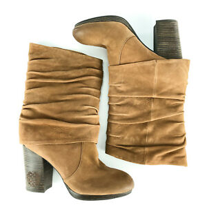 79599d2f794 Vince Camuto Womens Boots 8.5 38.5 High Heel Brown Leather Slouch ...