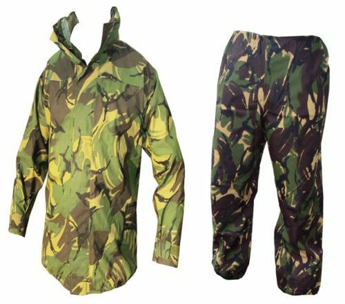 TROUSERS ARMY Woodland Camo GORETEX JACKET Waterproof Grade 1