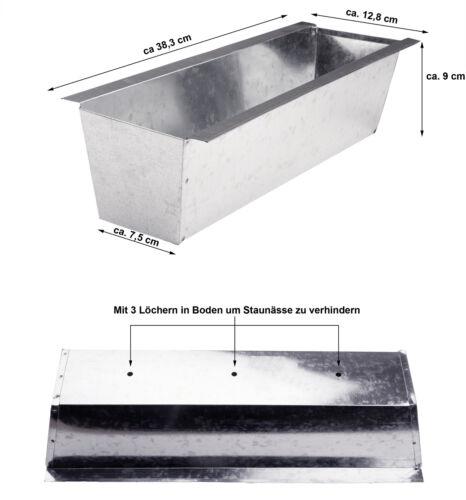 Blumenkasten für Europalette Balkonkasten Einsatz Pflanzkasten verzinkt 38cm