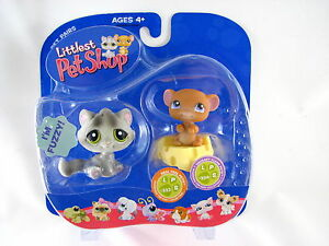 BNIB-LITTLEST-PET-SHOP-CAT-AND-MOUSE-WITH-CHEESE-323-amp-324
