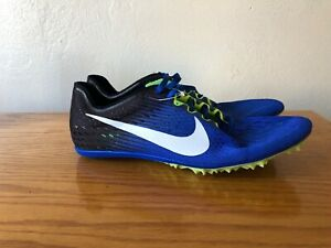 a024fda83a34 NEW Nike Zoom Victory 3 Track Spikes Blue White Black Mens Sz 8.5 ...