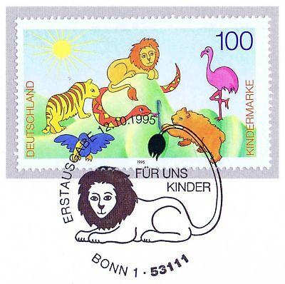 Brd 1995: Kinder! Blockmarke Nr. 1825 Mit Dem Bonner Ersttags-sonderstempel! 1a SorgfäLtig AusgewäHlte Materialien