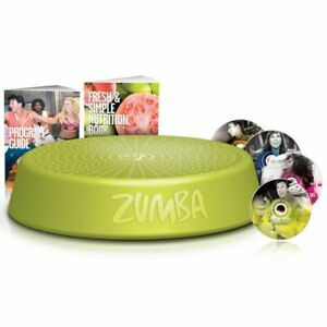 Zumba-Aerobic-Exercise-Step-Riser-Gym-Workout-with-4-Workout-DVDs-Green-ZUS001