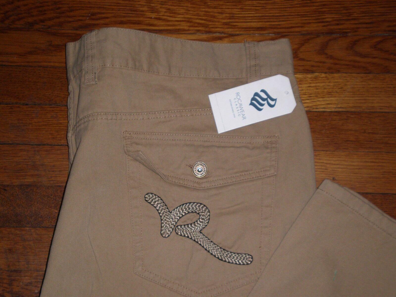 NWT Rocawear KHAKI R-Flap  BIG R  CLASSIC FIT Twill Casual Pants SZ 48 X 32