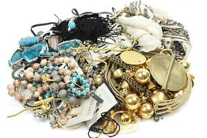 Various-Designers-4-4lbs-Costume-stone-beaded-Mixed-Jewelry-Fashion-Craft-LOT