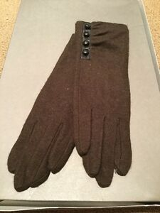 Ralph Lauren Brown Wool Blend Glove J05 #7 BN7