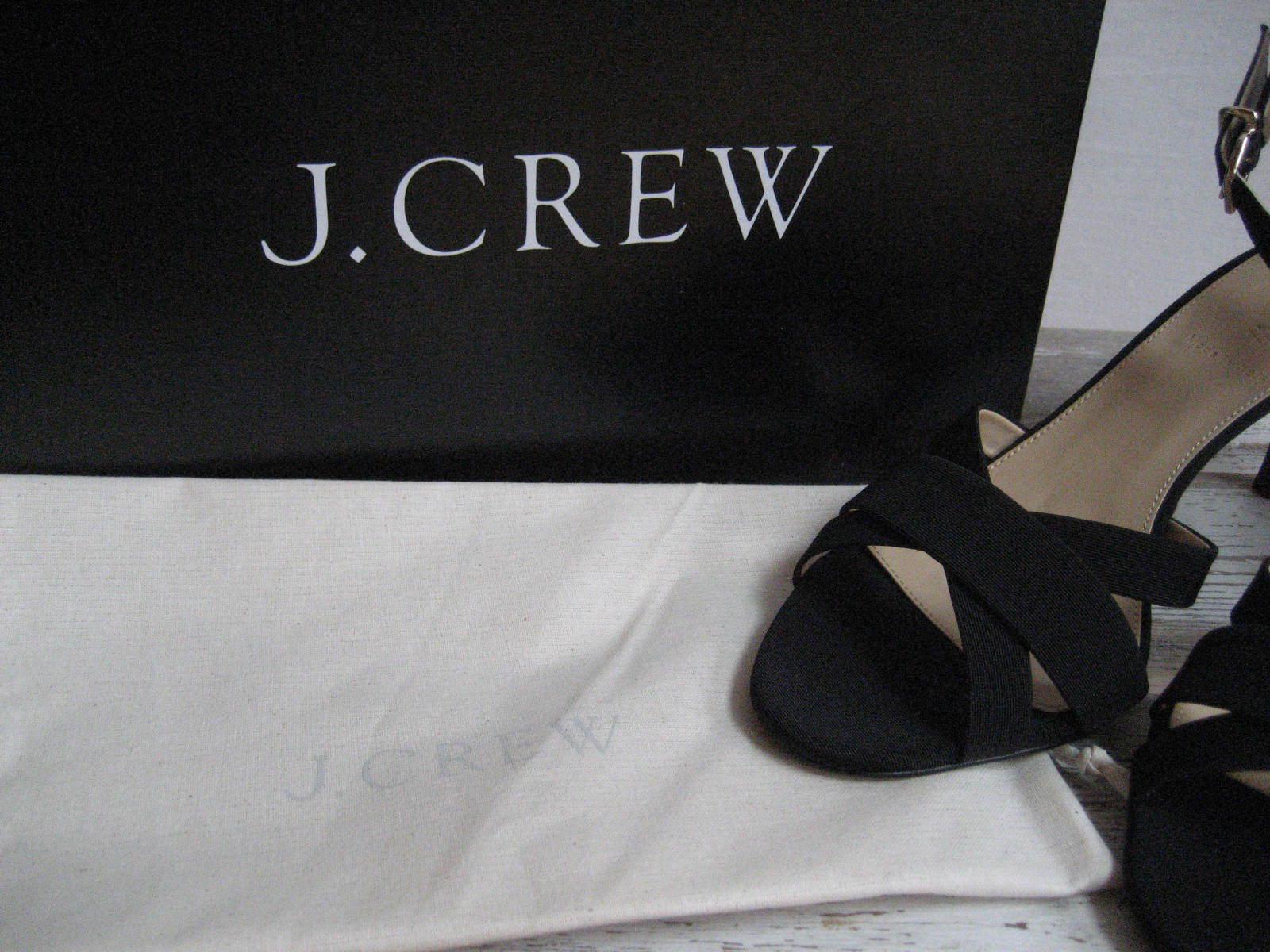 j. Équipage 9 noir style italie tissu midheel du sandales haut du midheel nib 299287