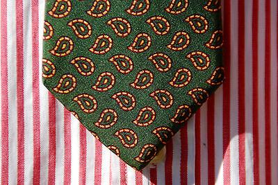 Renleigh Vintage Gentleman's British Racing Green & Gold Teardrop Foulard Tie