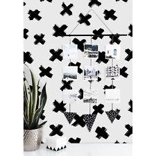 Wallpaper Designer Navy Willy Nilly Brush Strokes on White