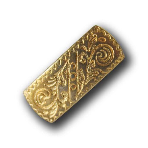 0637gg-8x15 5 rechteckige goldfarb Metall Ösen Knöpfe mit filligranem Muster