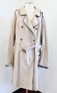 Torrid Outlander Collection Khaki Plaid Trimmed Trench Coat Jacket Size 6 6X