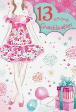13th 13 Thirteen Birthday Greeting Card Granddaughter Grandson Daughter Son