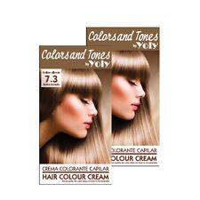 Yoly cream hair color # 7.3 Rubio Dorado Set by 2, made in Spain.