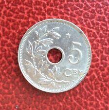 Belgique - Albert Ier - Magnifique monnaie de 5 Centimes 1930 VL