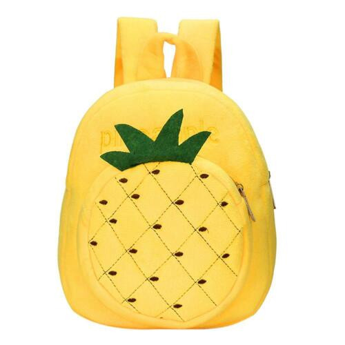 Kid Plush School Shoulder Bag Kindergarten Colorful Fruit Cute Backpack Rucksack
