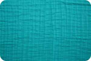 Shannon-Fabrics-Embrace-Double-Gauze-Teal-Solid-by-the-yard-amp-custom-cuts