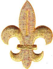 FLEUR DE LIS-GOLD METALLIC (LG)/Iron On Embroidered Applique/Mardi Gras,Royal