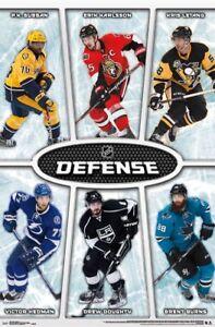 Details about NHL BEST DEFENSEMEN POSTER w/Brent Burns, Hedman, Letang,  Subban, Karlsson+