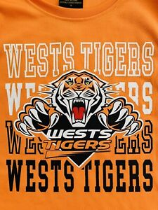 NRL Supporter Wests Tigers Mens Boys Training Singlet Tank Size 14 Polyester
