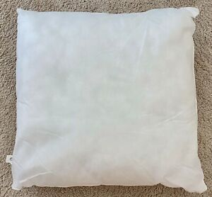 Piubelle White Cotton Cover Euro Pillow Insert Poly Fill 26x26 Made In Portugal Ebay