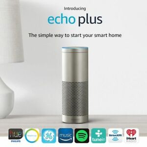 Echo Plus With Built In Smart Hub Alexa Silver