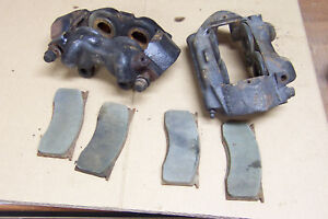1965-1966-1967-amp-Other-Ford-Mustang-R-amp-LH-Front-Disc-Brake-Calipers-Pads-OEM