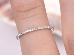 14k-White-Gold-Over-1-40-Ct-Round-Cut-Diamond-Engagement-Band-Ring-Jewelry-gift