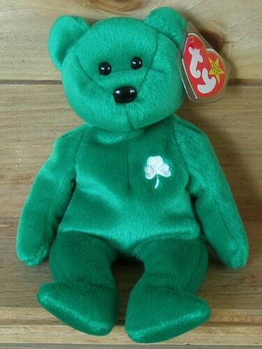Ty Beanie Baby Erin der Irische Bär Teddy 17.03.1997