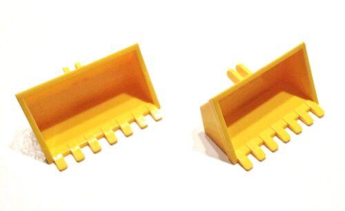 30394 2 Stück 39 # Lego Schaufel Bagger gelb 5627 4622 6474 6600