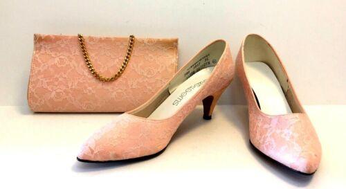 Vintage Sweet Steps Pink Salmon Lace Set Women's C