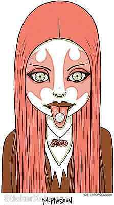 Pink Metal Girl Sticker Decal Art Tara Mcpherson TM18