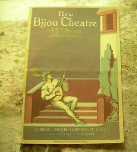 New Bijou Theatre Program 1926 west of Broadway New York City Sir james Barrie